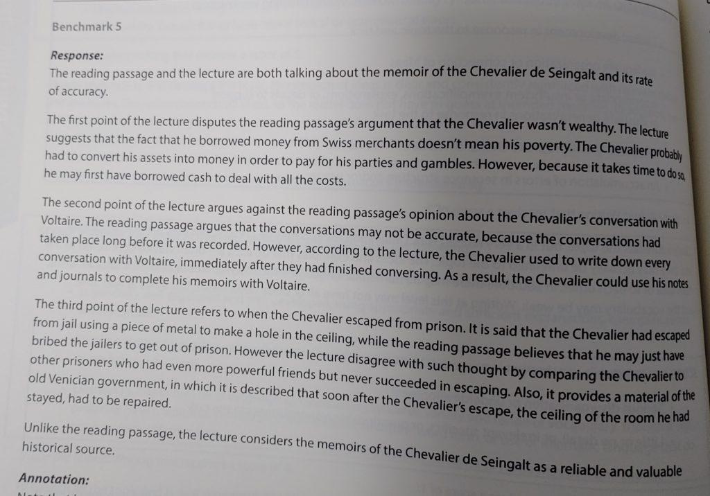 sample integrated essay